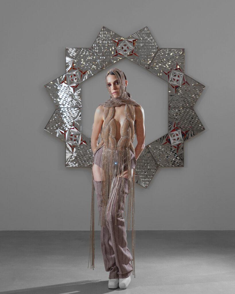Monir Shahroudy Farmanfarmaian-James Cohan-Mirror Mosaic